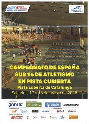 Campionat d'Espanya Sub16 en pista coberta
